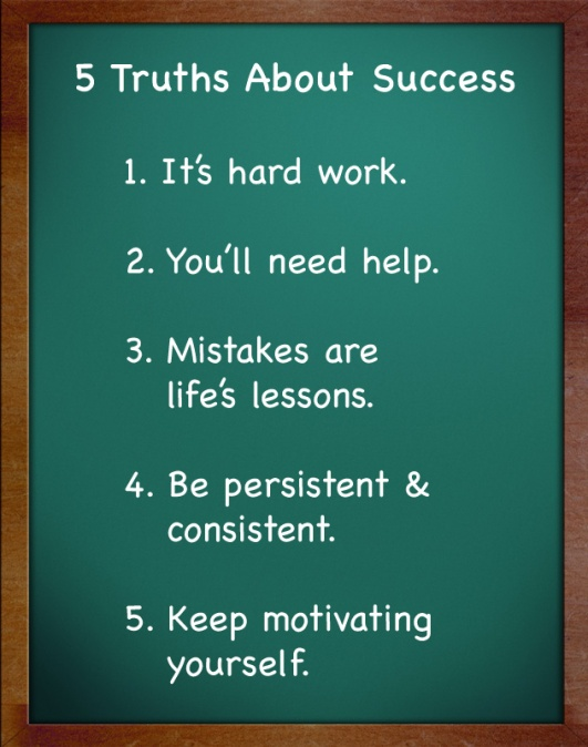 5 Truths About Success ~ Poster  #success #truths #poster #taolife
