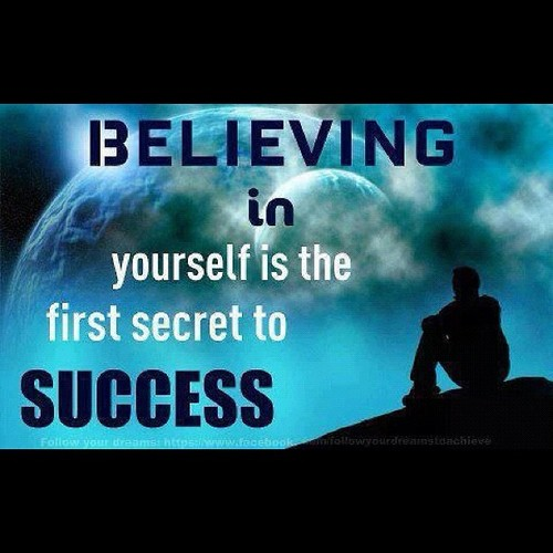 Believing in yourself is the first secret to success ~ #quote #success #taolife
