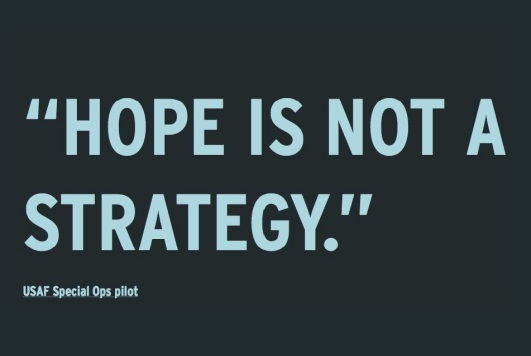 Hope is not a strategy  ~  #success #life #quote #taolife