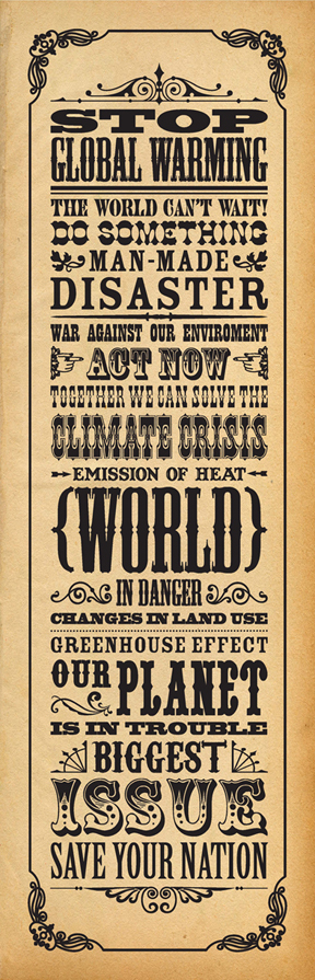 Stop Global Warming - Poster