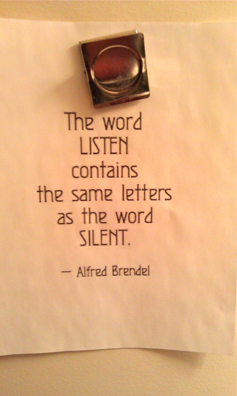 The word listen LISTEN contains the same letters as the word SILENT ...