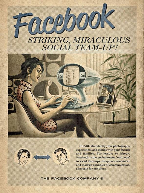 Vintage Facebook Poster on Gaye Crispin's Blog