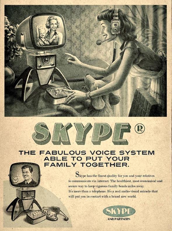Vintage Skype Poster on Gaye Crispin's Blog