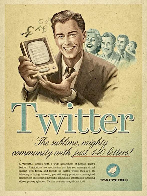 Vintage Twitter Poster via Gaye Crispin's Blog