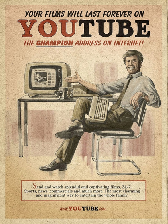 Vintage Youtube Poster via gaye Crispin's Blog